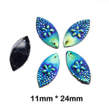 5pcs Iridescent Surfer Chic Floral Flat back Gems