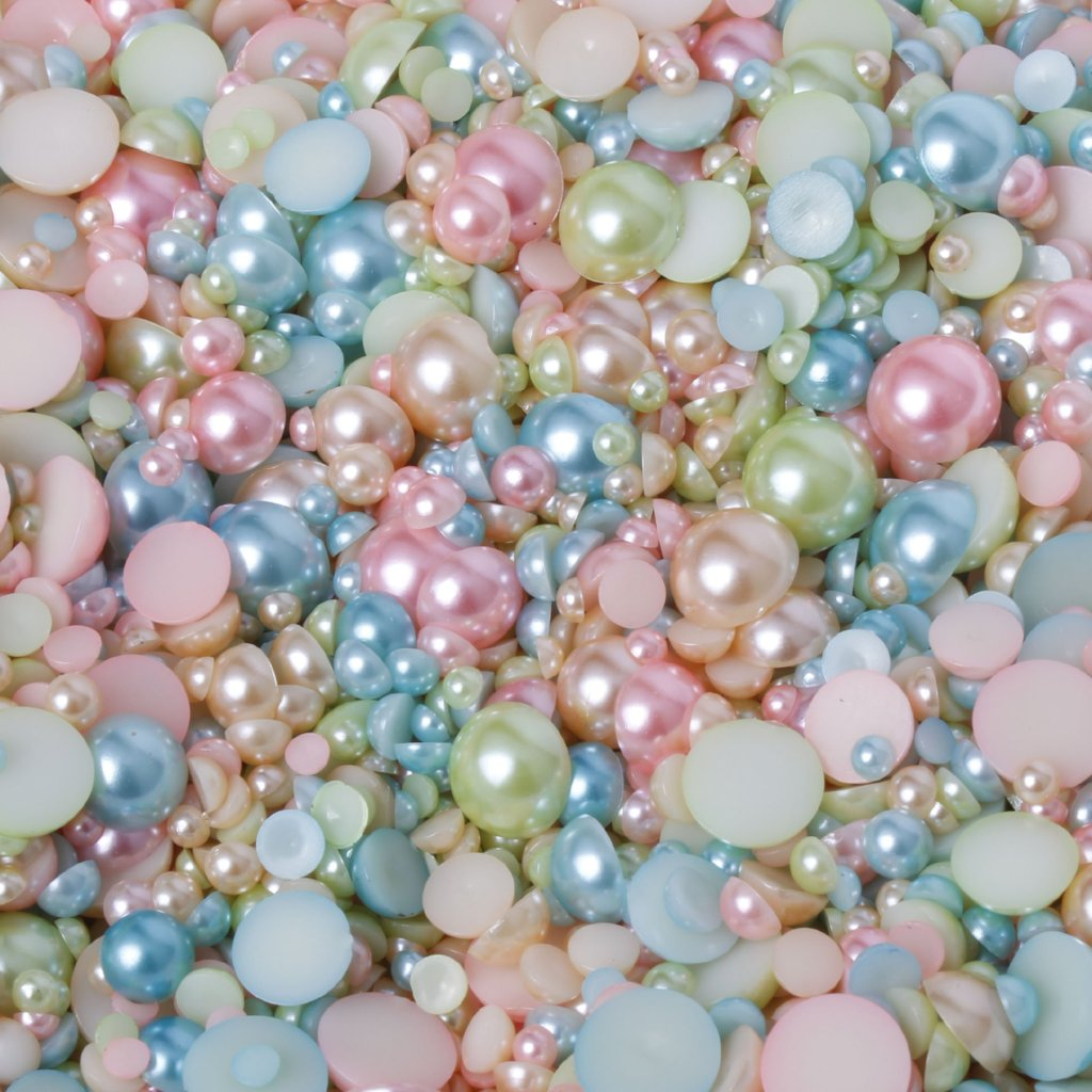 evol bonbons sweet candy 15g mixed sized flat back pearls mix