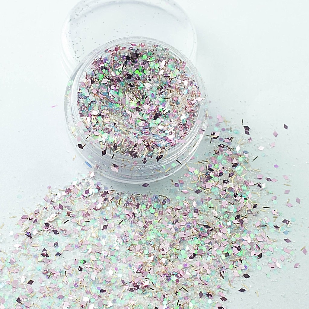 """Ice Ice Pinky"" Chunky Cosmetic Glitter Mix"