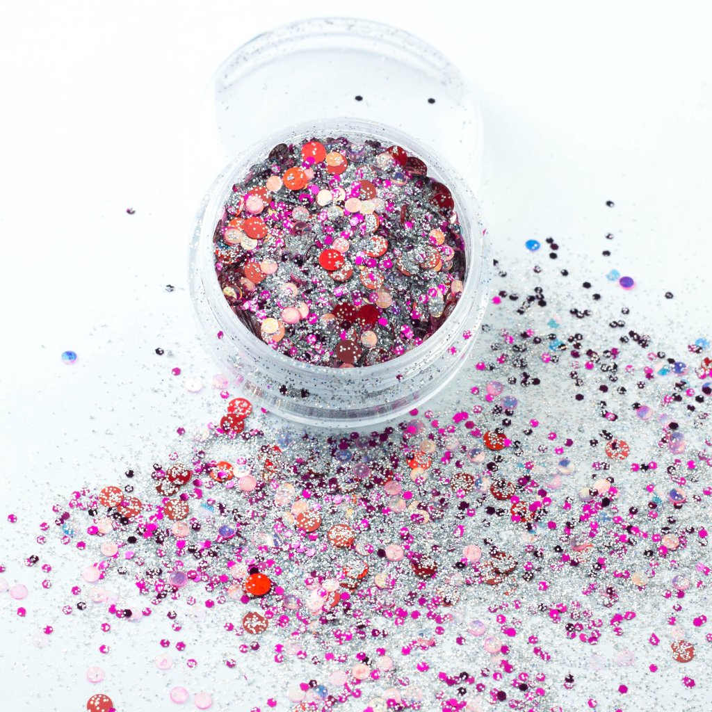evol aurora chunky festival glitter mix in pot