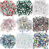 400pcs Small sizes mixed glass rhinestons, choose colours