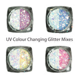 UV Activation Colour Changing Glitter Mixes, 4 Colours Available