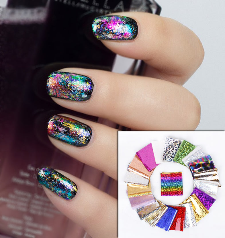 Nail Art Space Nails Transfers Foils
