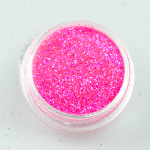 evol blazing pink iridescent glitter eyeshadow pot