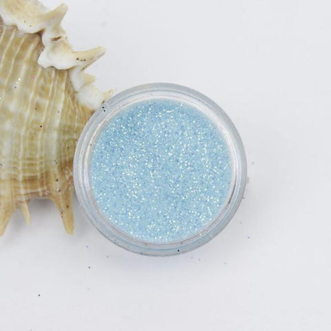 evol iridescent blue dust face glitter