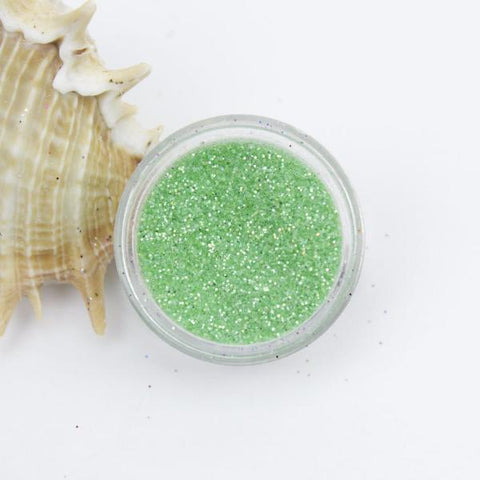 evol iridescent green dust face glitter