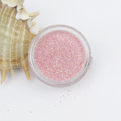 evol baby pink translucent iridescent dust face glitter