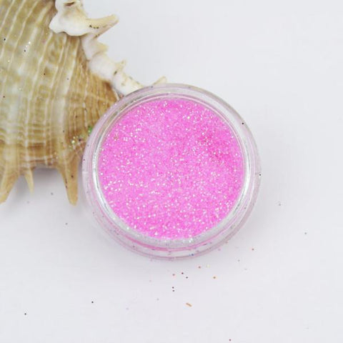 """Translucent Bubblegum Pink Iridescent"" Fine Dust Cosmetic Glitter 2g Pot"