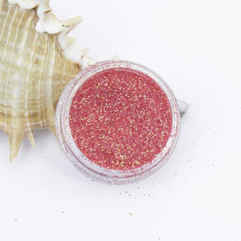 evol translucent iridescent red dust face glitter