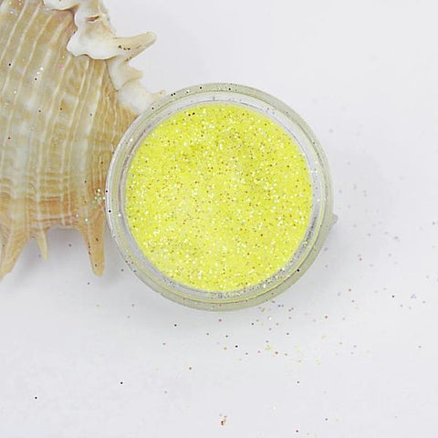 evol lemon yellow translucent iridescent dust face glitter pot