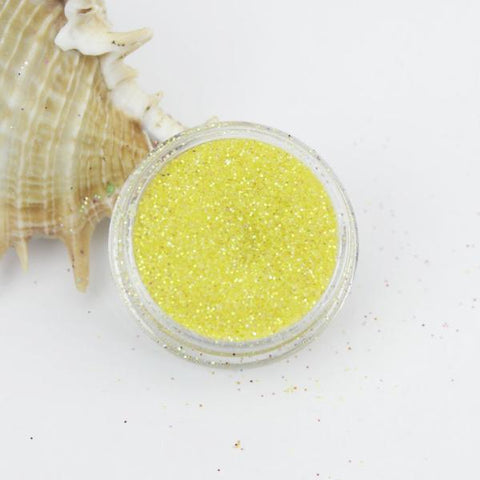 """Sunflower Yellow"" Translucent Iridescent Fine Dust Cosmetic Glitter 2g Pot"