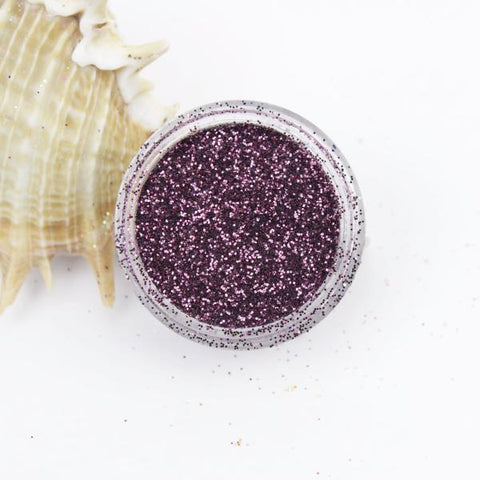 evol plum metallic dust face glitter