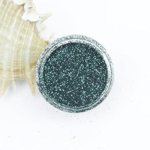 evol forest green metallic dust face glitter