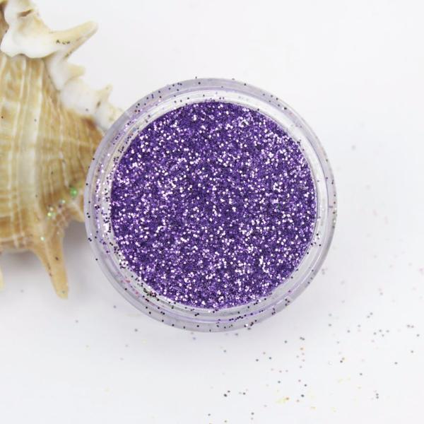 evol metallic lavender dust face glitter