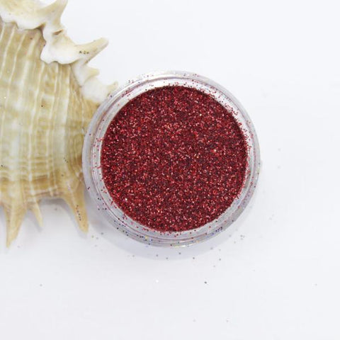 evol holographic red dust face glitter