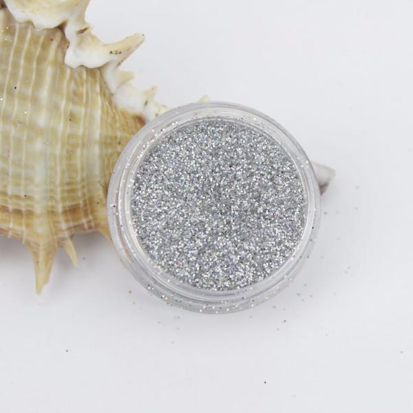 evol holographic silver dust face glitter