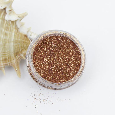 evol metallic copper dust face glitter pot