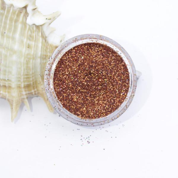 evol holographic bronze dust face glitter