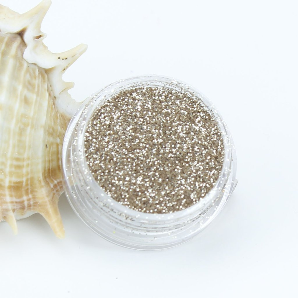 evol light champagne metallic fine dust face glitter