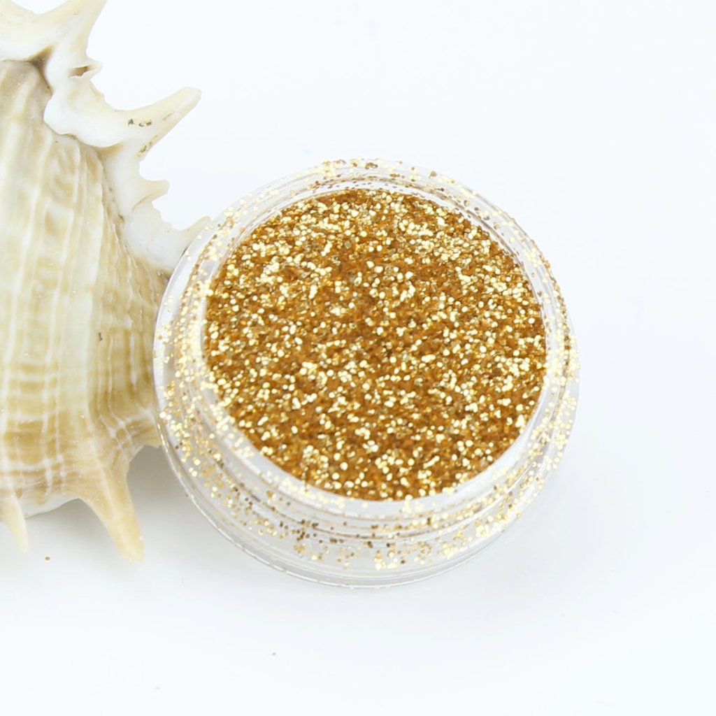 evol rust gold metallic fine dust glitter pot