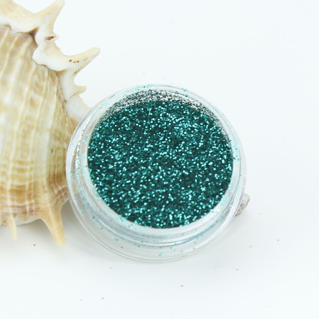 evol mermaids tail green metallic fine dust glitter pot