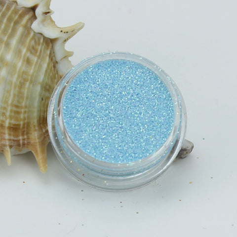 evol sky blue light opaque iridescent dust face glitter eyes