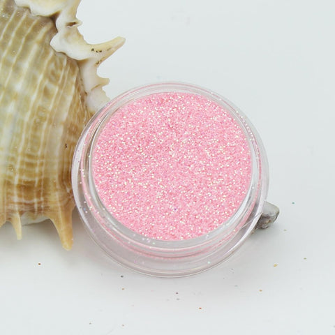 """Baby Pink"" Opaque Iridescent Fine Dust Cosmetic Glitter 2g Pot"