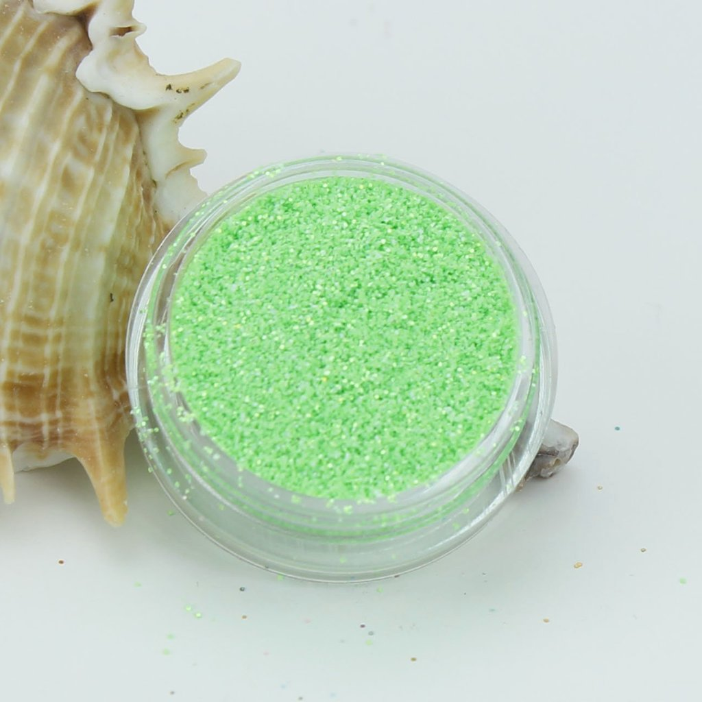 evol radioactive green opaque iridescent bright party face glitter