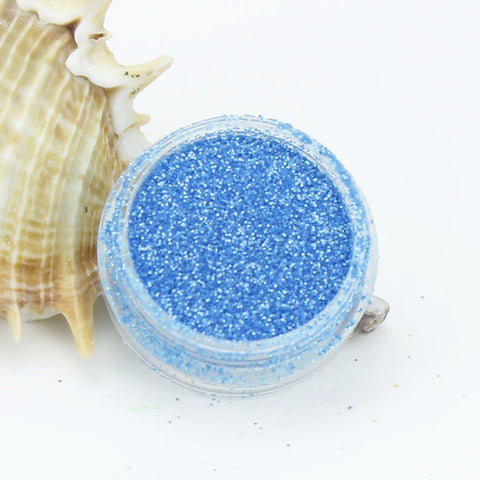 evol blue pearl dust face glitter