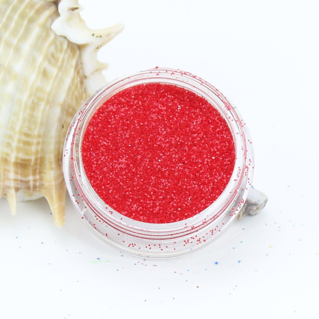 evol fire red pearl dust face glitter