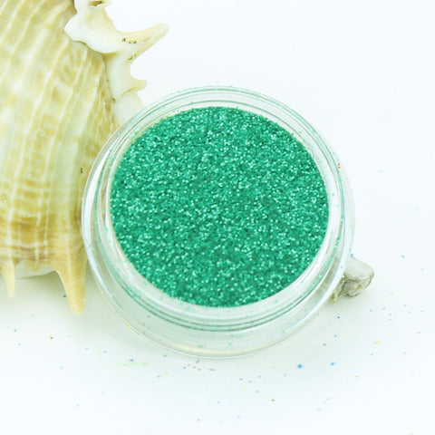 evol emerald green pearl dust face glitter