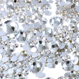 1000pcs Mixed Size 【Clear】Glass Rhinestone Face Gems