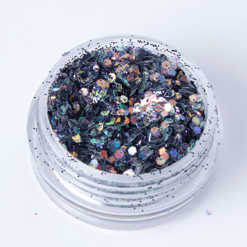 """Smoke"" Fine Cosmetic Glitter Mix"