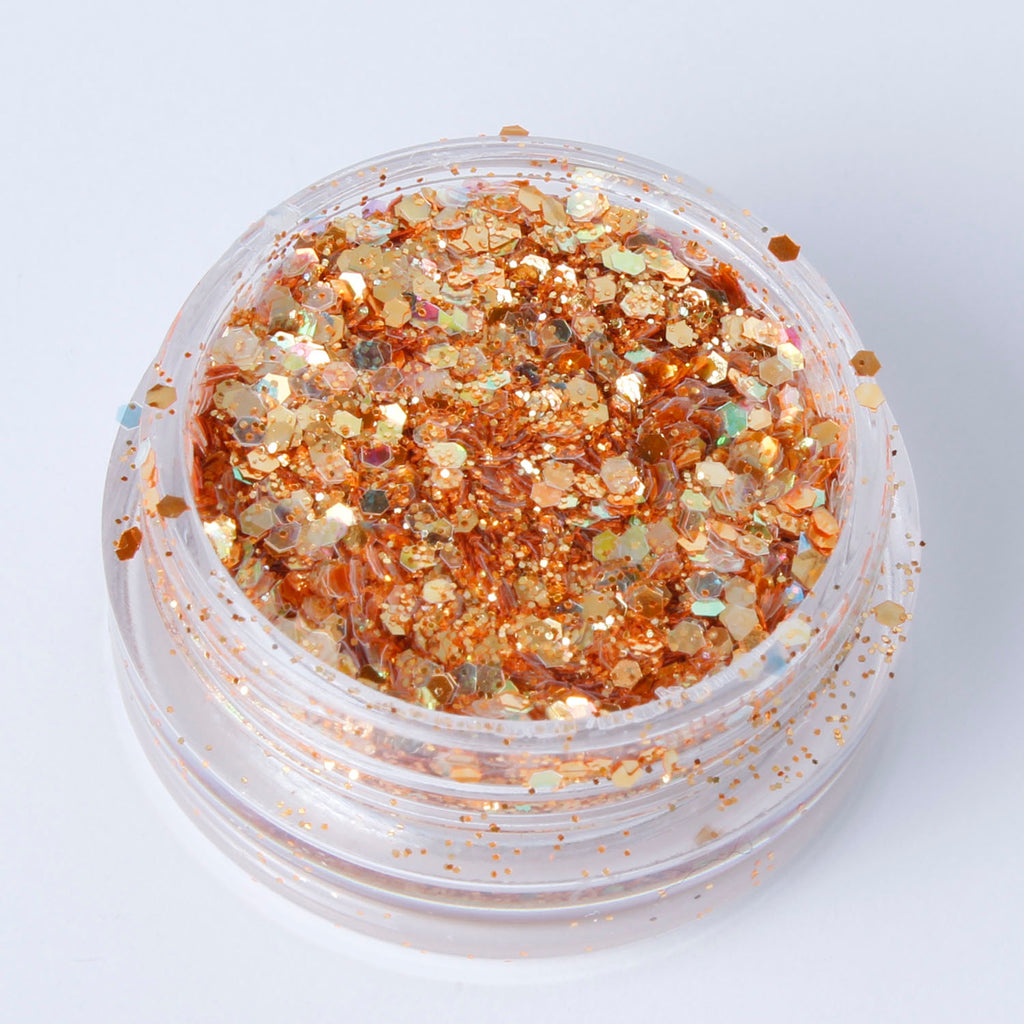 """Rust"" Fine Cosmetic Glitter Mix in 2g Pot"