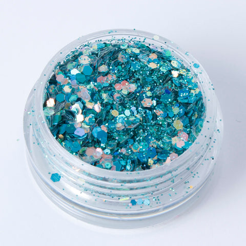 """Aventurine"" Fine Cosmetic Glitter Mix in 2g Pot"
