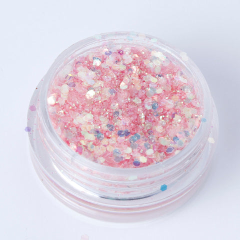 """Baby Pink"" Fine Cosmetic Glitter Mix"