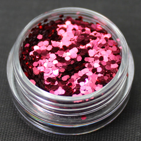 Metallic Cherry 1mm hexagon glitter