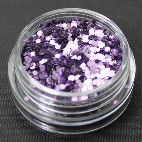 Metallic Lavender 1mm hexagon glitter