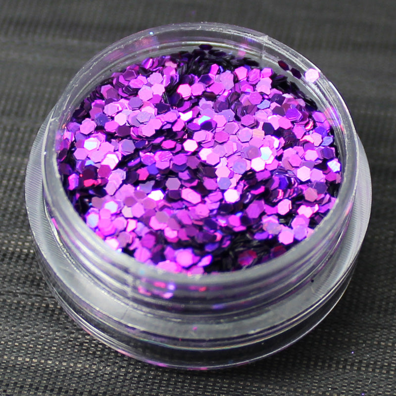Holographic Violet 1mm hexagon glitter