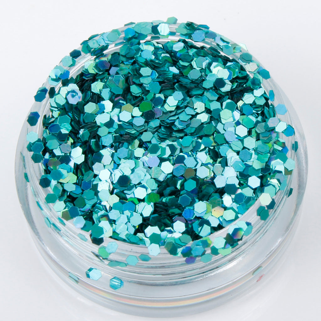 Holographic Aventurine 1mm hexagon glitter