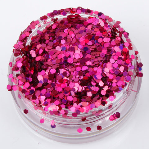 Holographic Magenta 1mm hexagon glitter