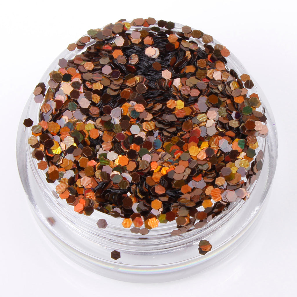 Holographic Coffee 1mm hexagon glitter