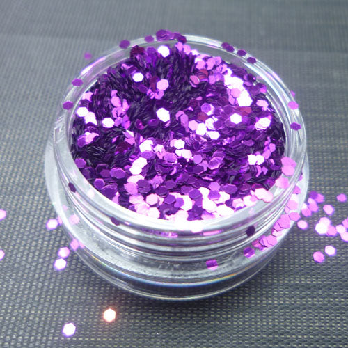 Metallic Purple 1mm hexagon glitter