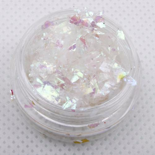 evol iridescent white ice flakes glitter