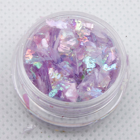 evol iridescent lilac mylar ice flakes face glitter