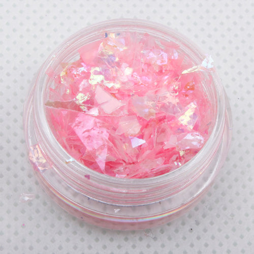 """Bubblegum"" Iridescent Ice Flakes Cosmetic Glitter Pot"