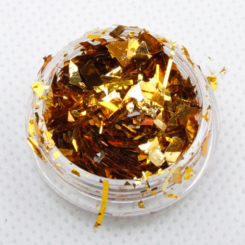 metallic gold ice flakes festival face glitter