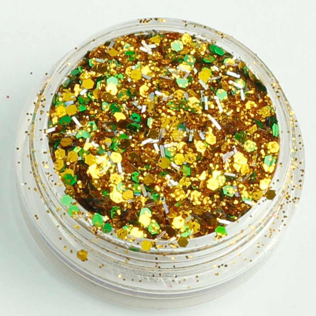 evol deck the halls xmas chunky face glitter mix pot