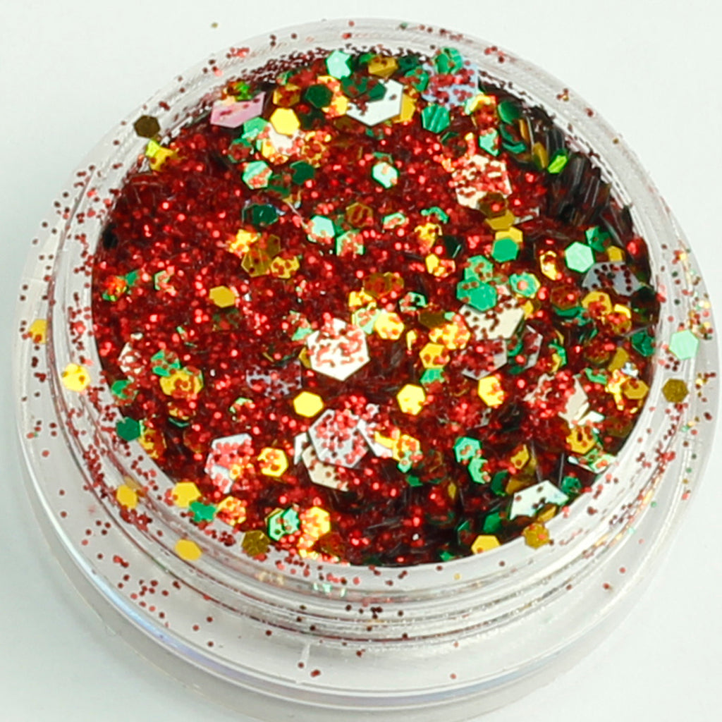 evol holly and ivy xmas face glitter mix pot
