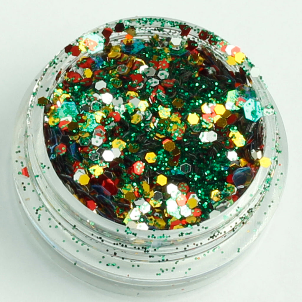 evol tree-rific xmas face glitter mix pot